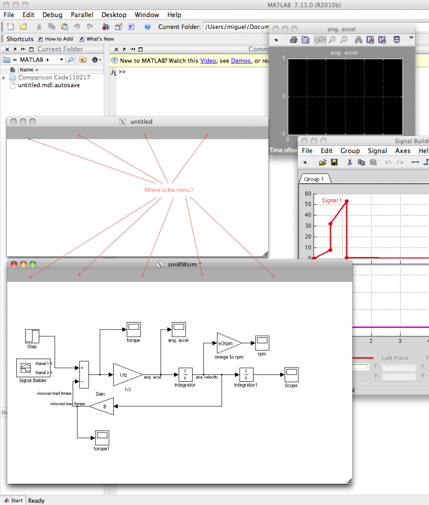 Screen shot simulink matlab 2010b
